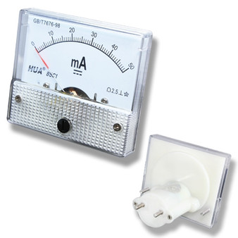 Small DC 50mA Analog Panel Meter