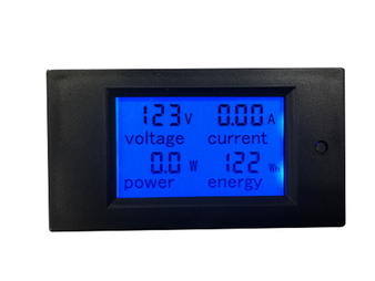 Blue 20A AC Digital LCD Power Watt Meter with Energy Voltmeter Ammeter Functions