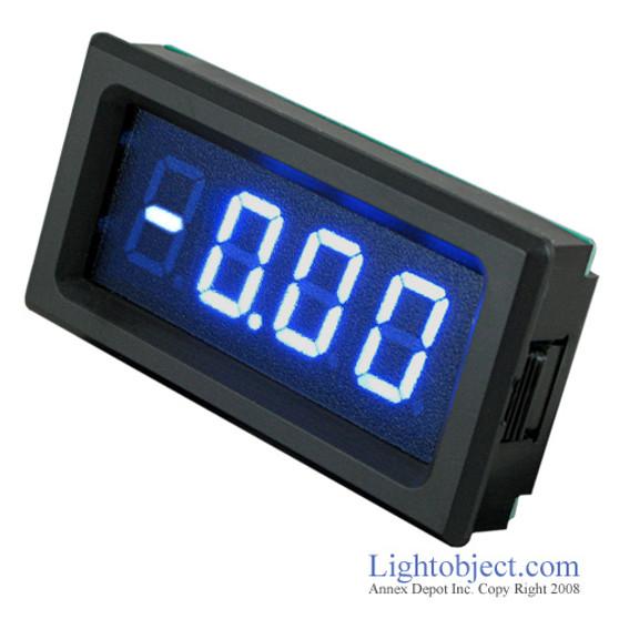 3-1/2 Digital Blue LED DC 20A Current Meter (8135)