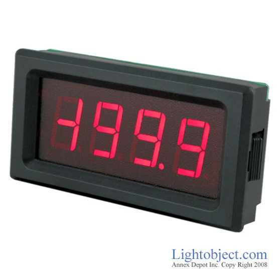 3-1/2 Digital Red LED DC 200A Current Meter (8135)