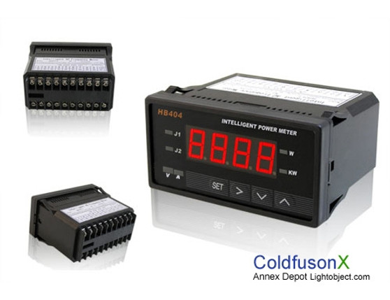 Programmable Digital DC Power Watt Meter (Red LED w/ control)