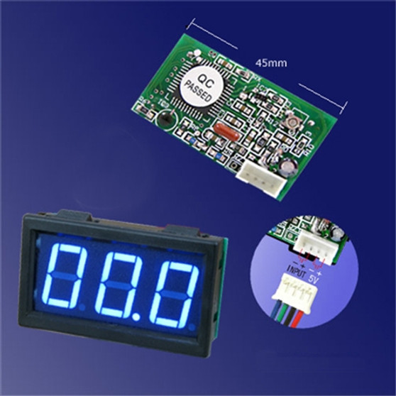 3 Digit Mini Blue LED DC 100mA Meter. Ideal for CO2 Laser Power Indicator (100mA)