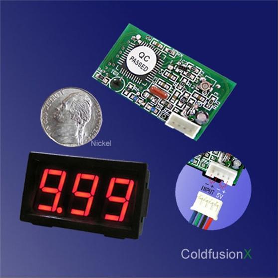3 Digit Mini Red LED DC 10V Volt Meter