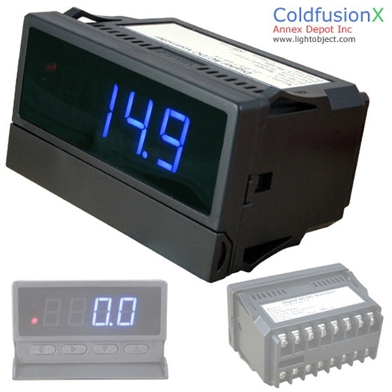 Programmable 4 Digit Blue AC/DC Current Meter with dual control & 20mA data output