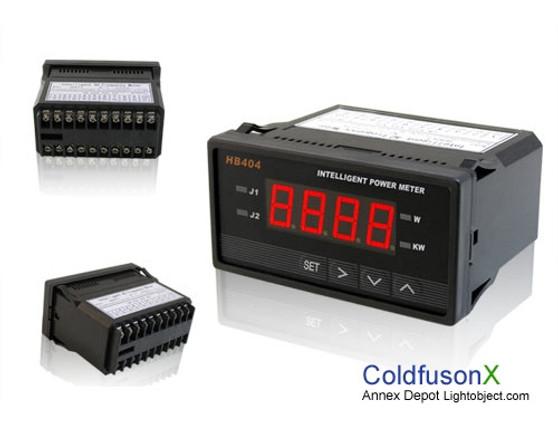 Programmable Digital AC Power Watt Meter (red LED w/ control)