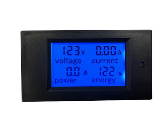 Blue 20A AC Digital LCD Power Watt Meter with Energy Voltmeter Ammeter Functions