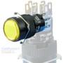 Orange SPDT Push Button (momentary) Switch w/ light