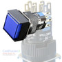 Square Blue SPDT Push Button (Toggle) Switch w/ light