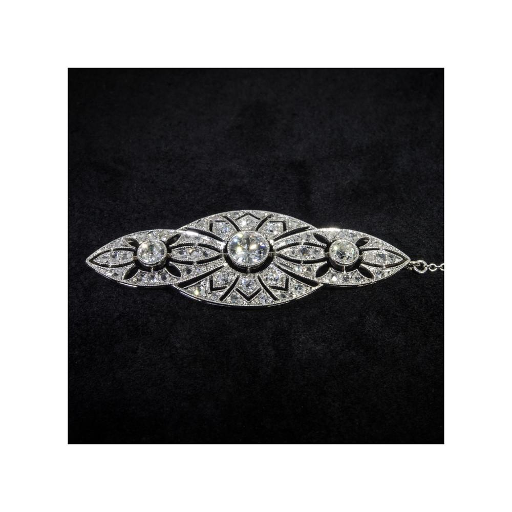 1920's Diamond and Platinum Pendant