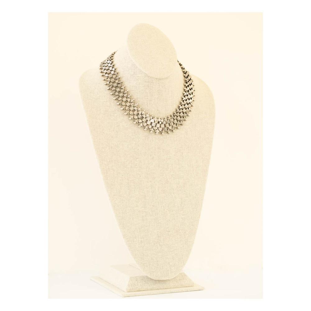 Antique Silver Collar Necklace