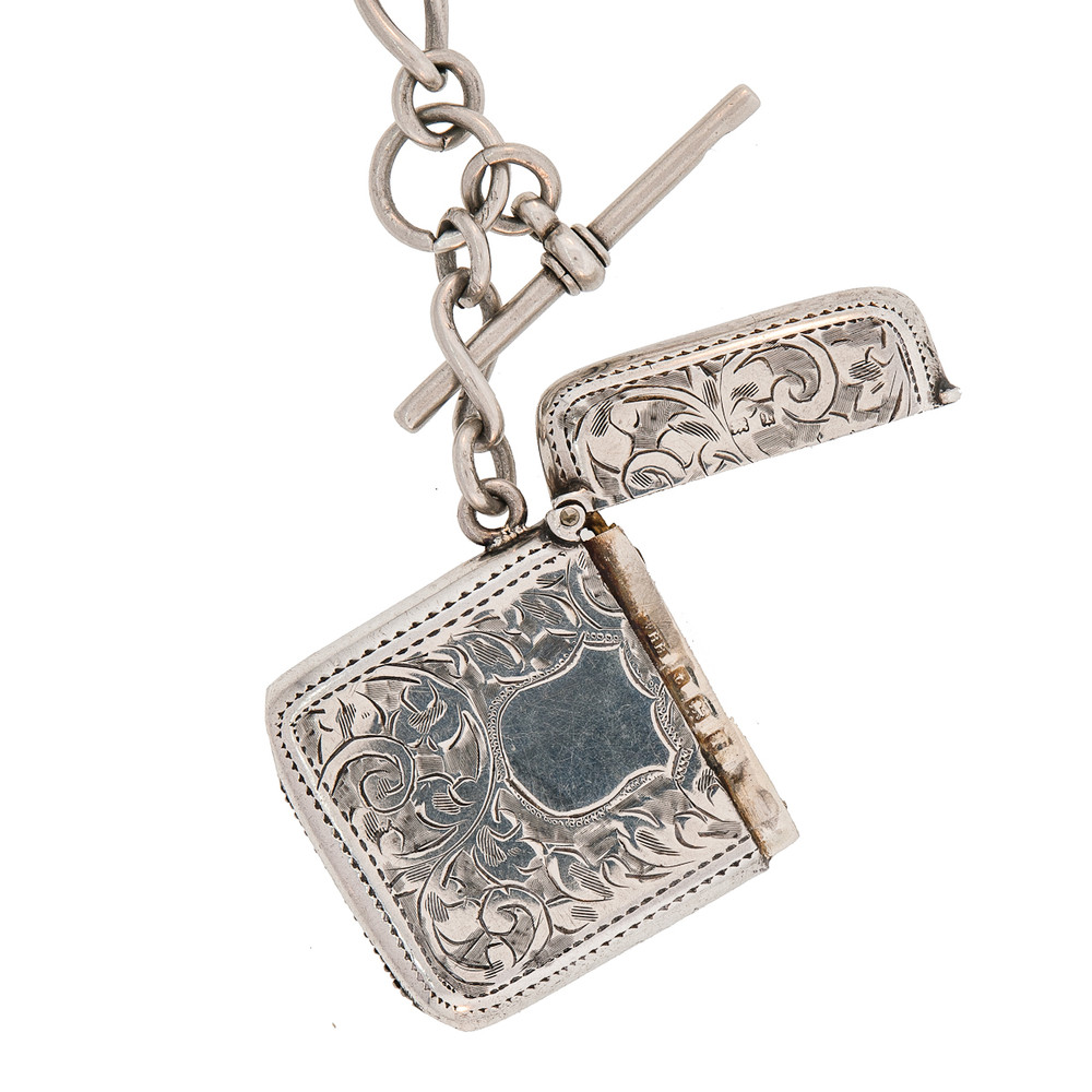 An Open Silver Vesta with Hallmarks