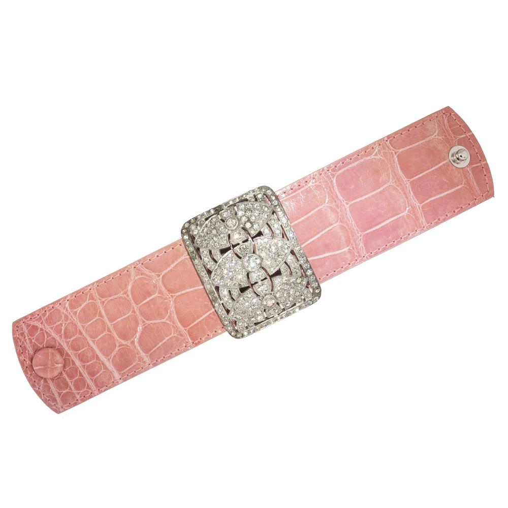 Alligator and Paste Cuff Bracelet