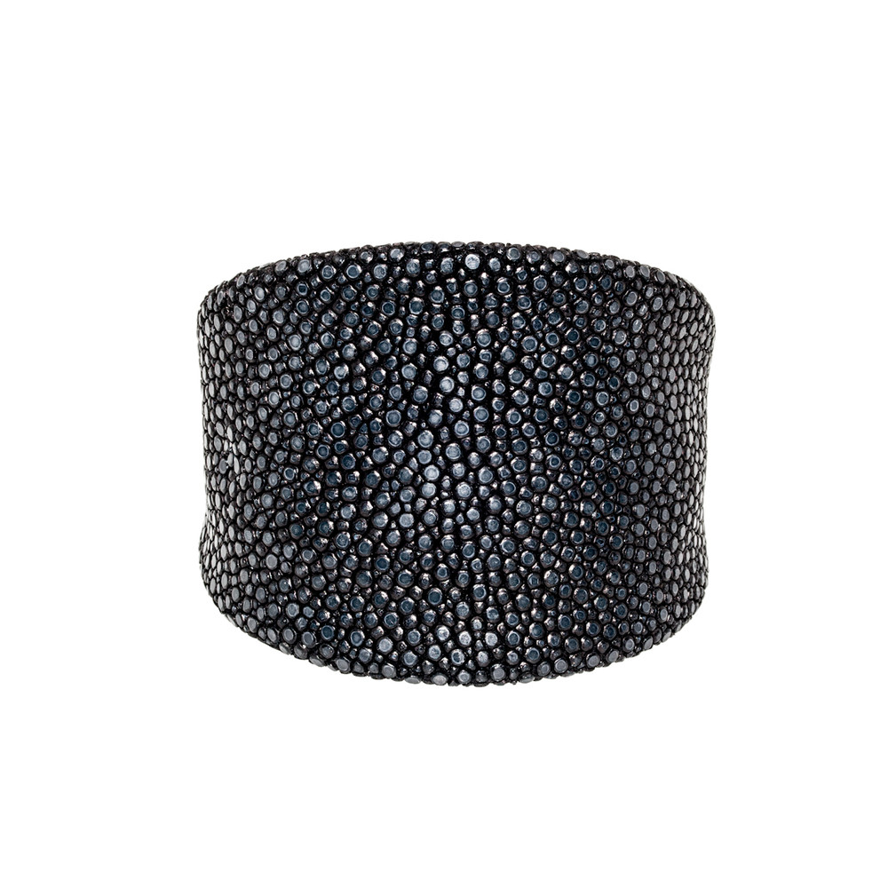 Black Shagreen Cuff