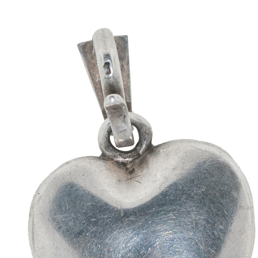 Hallmarks on Victorian Silver and Paste Heart Pendant