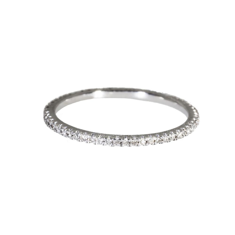 Diamond eternity ring in 18 Kt. white gold.