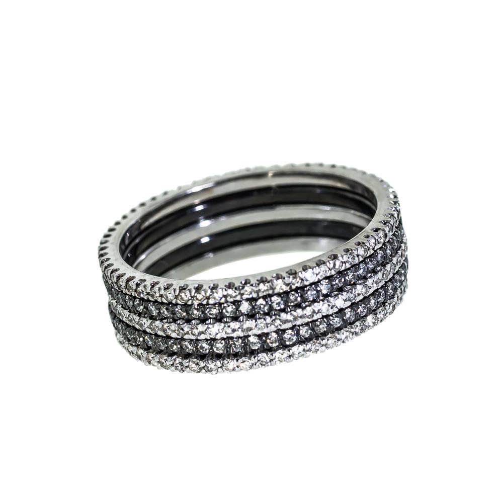 Micropave diamond eternity bands and stacking bands