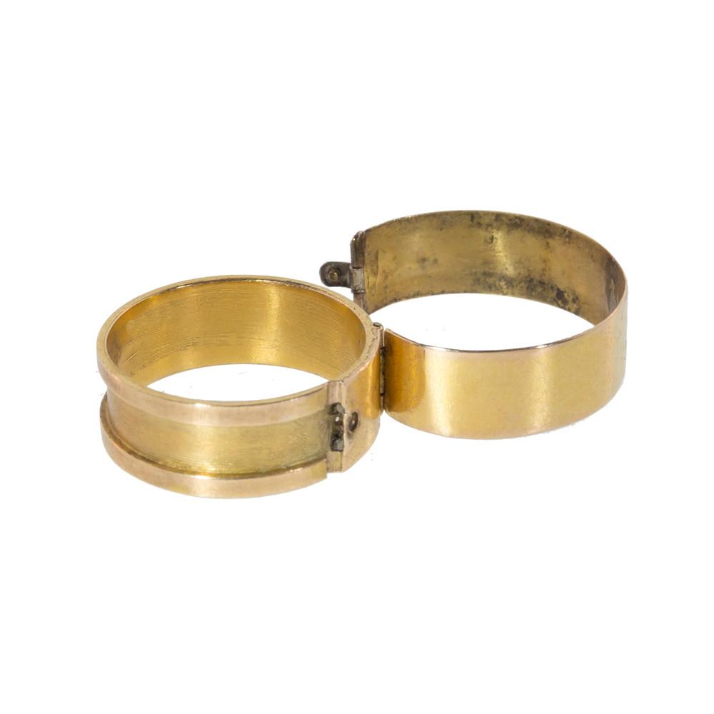 Antique Gold Secret Message Ring