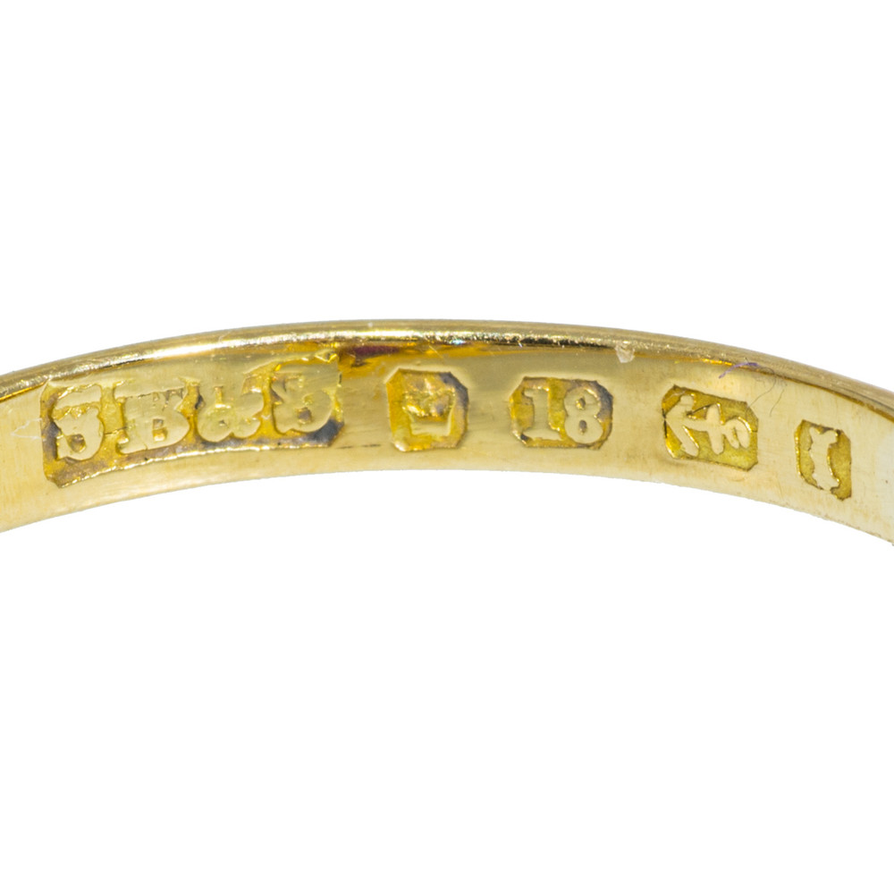 English Hallmarks on 18 ct Gold Ring