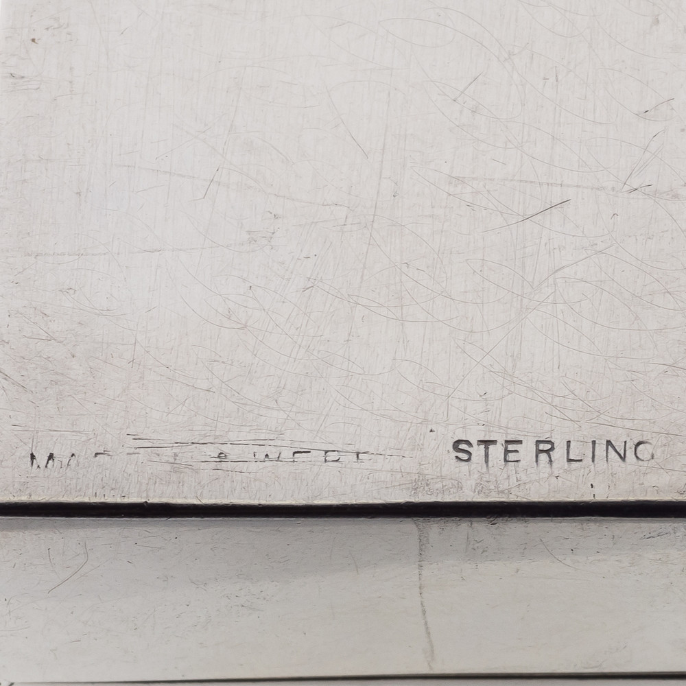Mappin & Webb Maker's Mark on Silver Ring Box