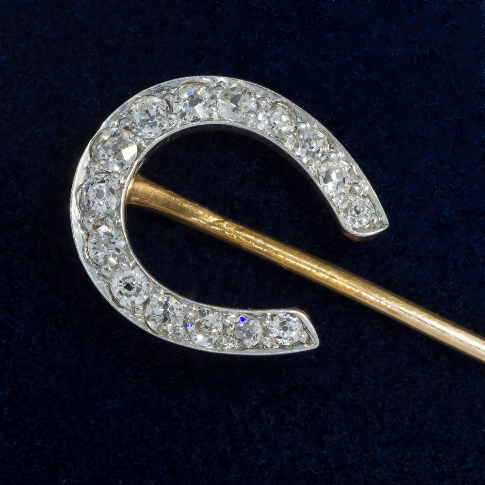 Edwardian Horseshoe With European Cut Diamonds