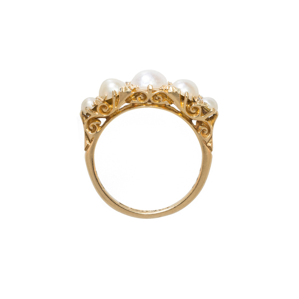 Antique 18 Ct Gold and Pearl Ring