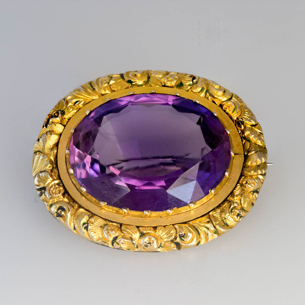 Antique Georgian Amethyst Brooch