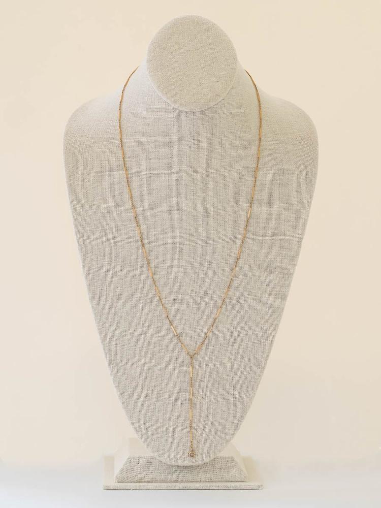 14 K Gold Lariat Chain Circa 1920's