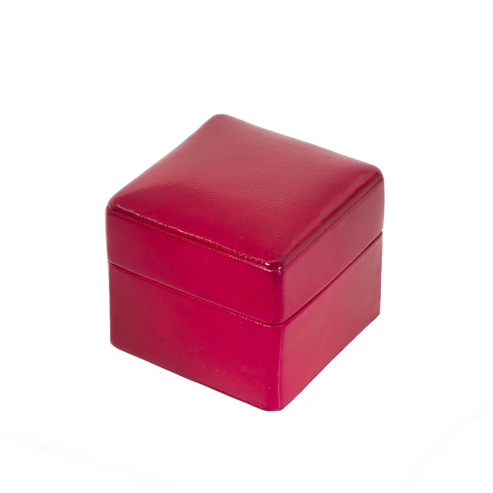 engagement ring box  in leather suede