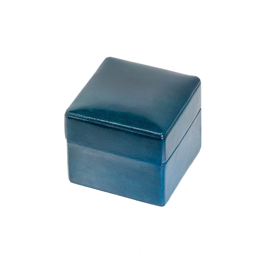 Luxury Leather Ring Box in Blue