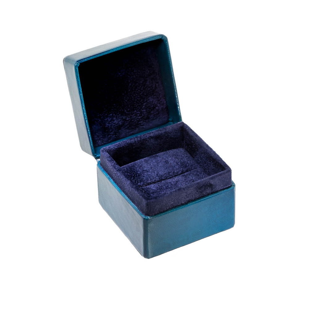 Engagement Ring box and Blue Suede