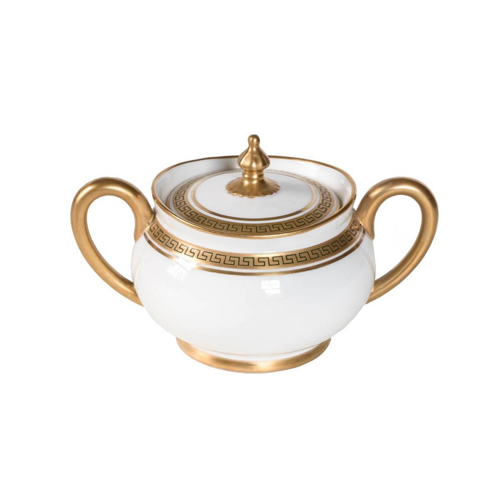 Vintage Greek Key sugar bowl