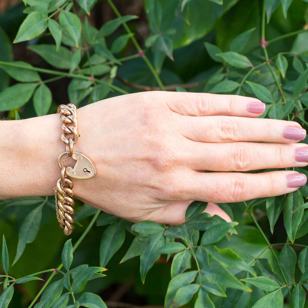 Antique Gold Bracelet with Padlock
