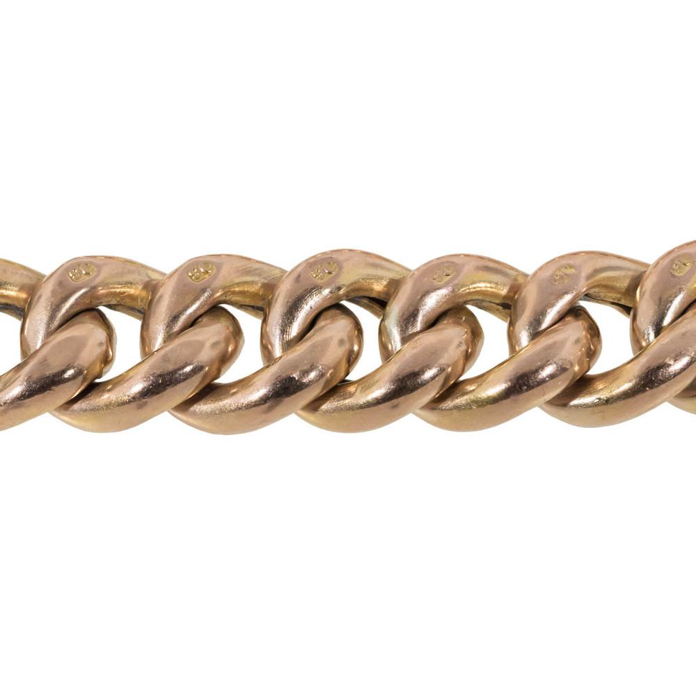 9 ct Gold Link Bracelet and Heart Shaped Padlock