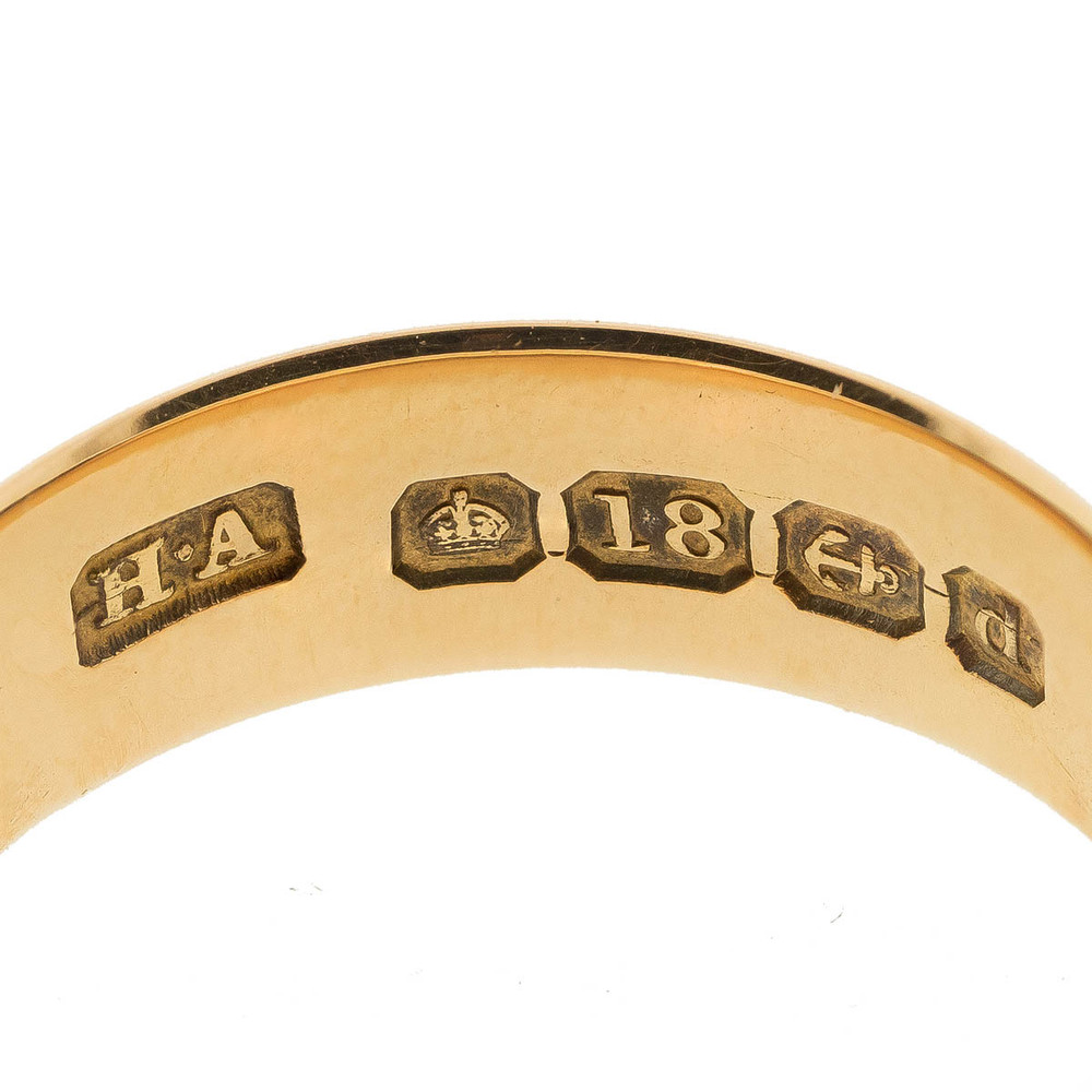 Antique English Hallmarked Wedding Band in 18 ct Gold