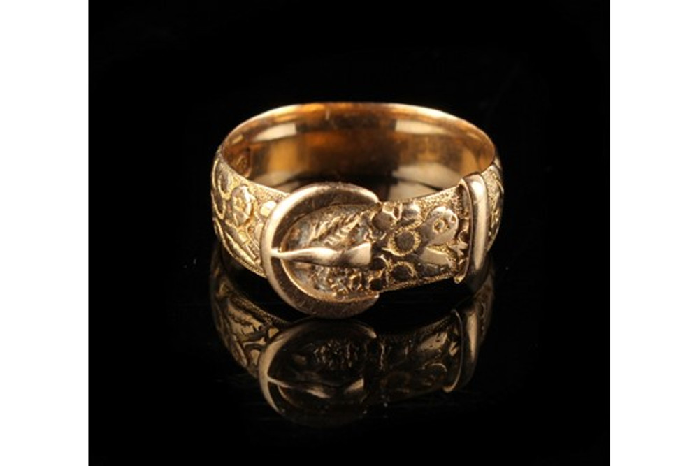 Edwardian Gold Buckle Ring