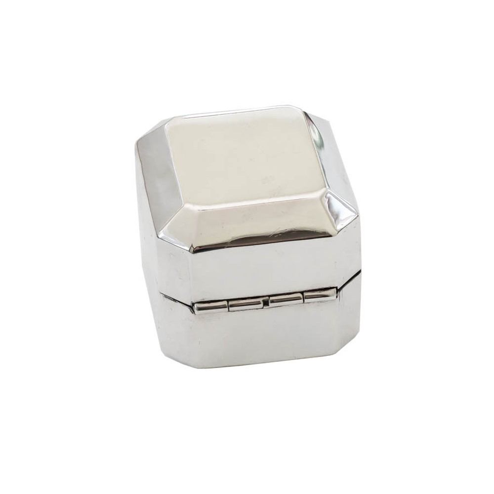 Ryrie Birks Sterling Silver, Velvet Lined Ring Box, Engagement Ring Box