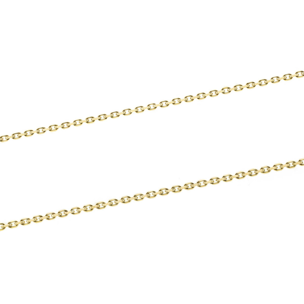 4b49e1593a49c Vintage: French Long 18 Kt Gold Oval Link Chain