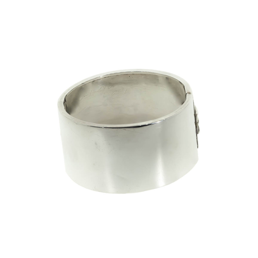 Victoria Sterling Silver Bangle with Shirt Cuff Pattern