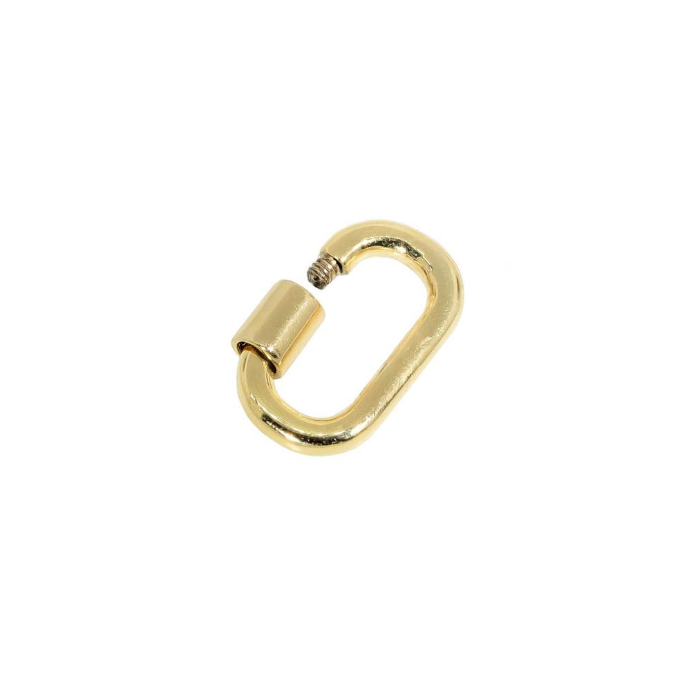 14Kt gold carabiner, charm holder, charm hanger, link