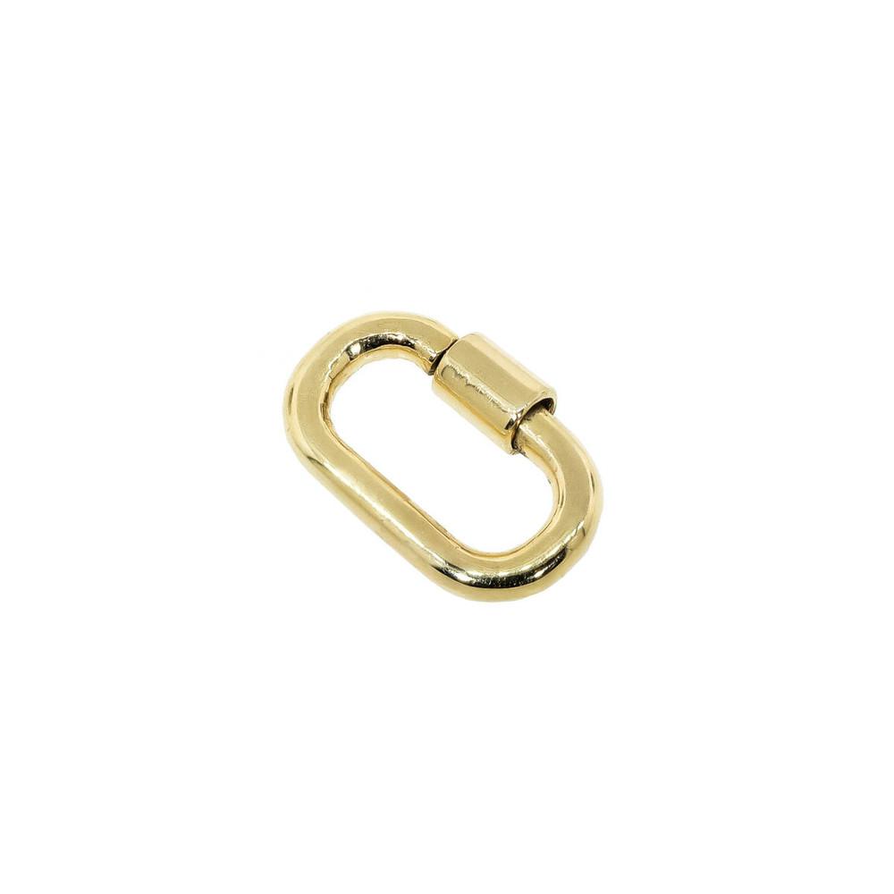14 Kt gold charm holder, lock, charm hanger, charm enhancer, charm clip, charm connector, carabiner, jewelry lock, bracelet clasp