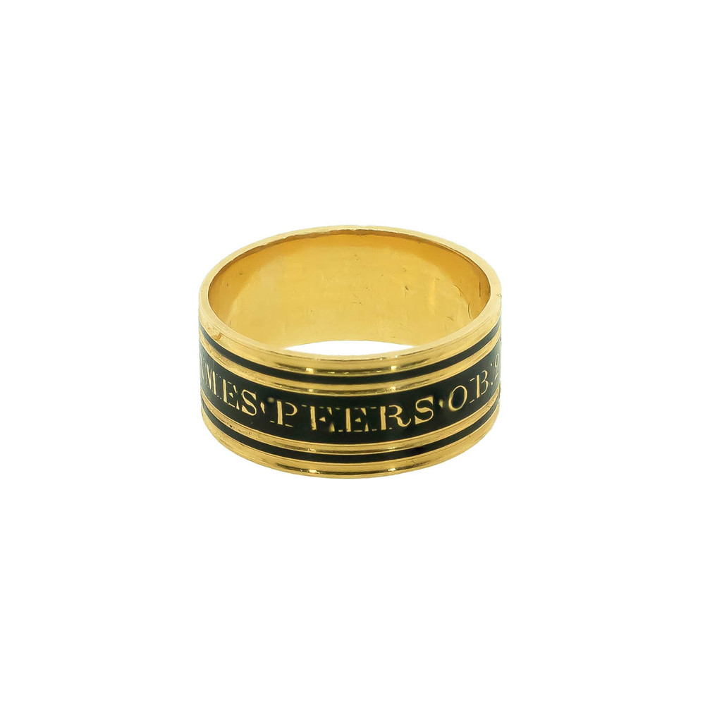 Antique memorial band ring, George III March 29, 1806