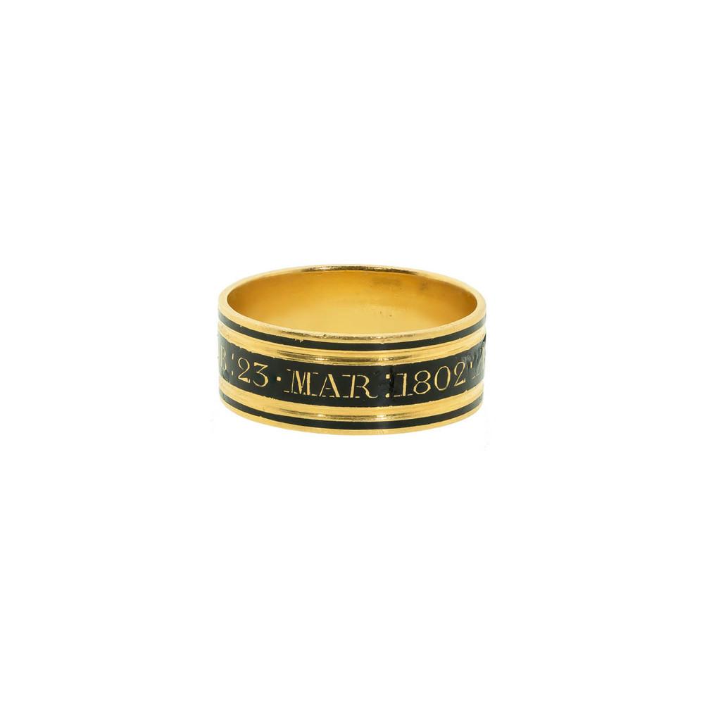Antique Mourning Ring, Georgian Mourning Ring