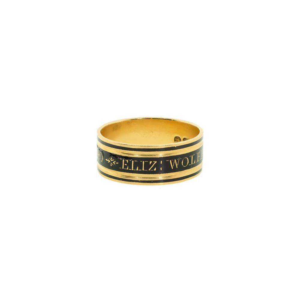 Antique Memorial Ring, Georgian Memorial Ring