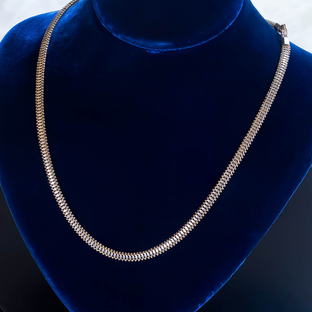 Antique: Gold Snake Chain Necklace, Watch Chain
