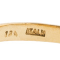 18 K and Italy Stamped on the Inside of a Gold Ring