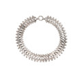 An Antique Sterling Silver Collar Chain Necklace with Large Bolt Ring