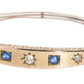 A Victorian Gold Bracelet with Diamonds Set in Carved Stars