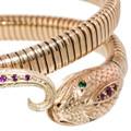 A Snake Bracelet with Emerald Eyes