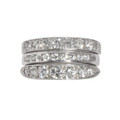 Three Diamond Rings Stacked Together