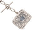 Antique Silver Vesta Attached to Antique Sterling Silver Watch Chain